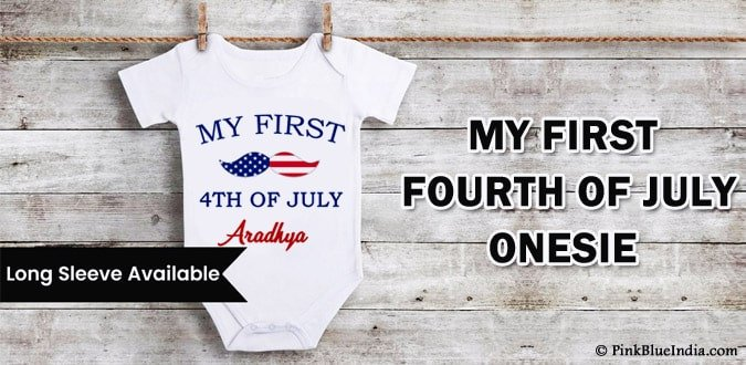 My First Fourth of July Onesie, 4th of July Baby Onesie Outfit