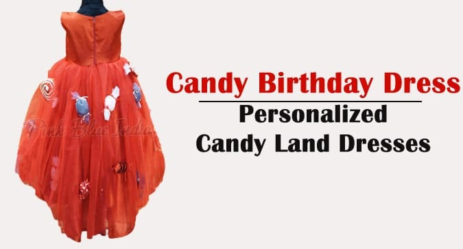 Candy Birthday Dress, Personalized Candy Land Dress, Girls Candy Theme Dress