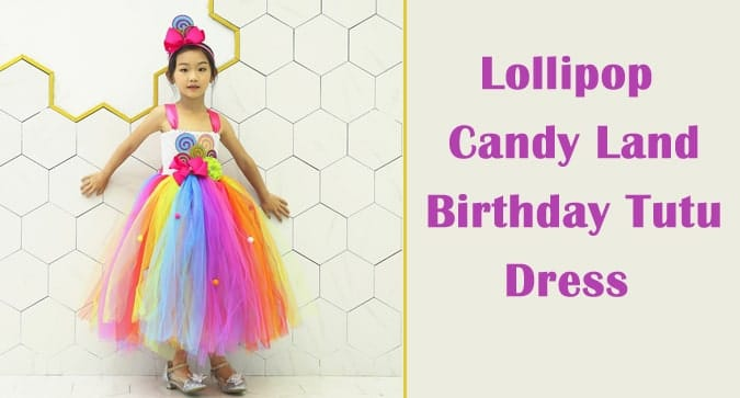 Candy Birthday Tutus, Lollipop Candy Land Tutu Dress India
