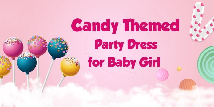 Baby Girl Candy Themed Party Dress, Candyland Birthday Dress