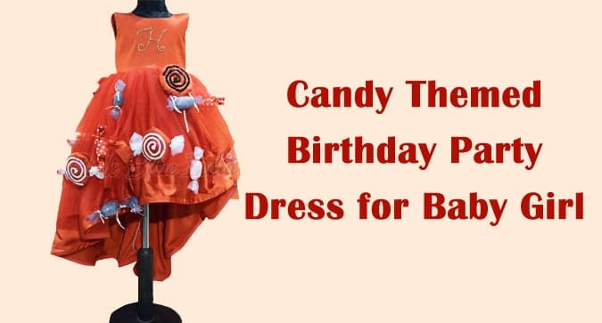 Candy Themed Birthday Party Dress, Baby Girl Candy Dress