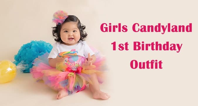 Girls Candyland 1st Birthday Outfit, Baby Girl Candy birthday outfit