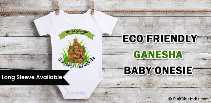 Eco Friendly Ganesha Onesie, Lord Ganesha kids T Shirts