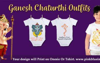 Ganpati Bappa Baby Onesie | Kids Ganesha T-Shirts Online