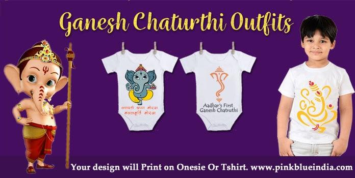 Ganpati Bappa Baby Onesie, Kids Ganesha T-Shirts Online
