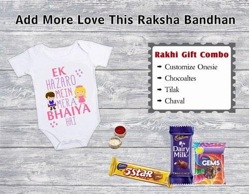 Rakhi Combo Online, Customize Onesie, Raksha Bandhan Gift