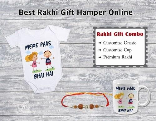 Best Rakhi Gifts Online, Premium Rakhi, Personalized Mugs, Onesie