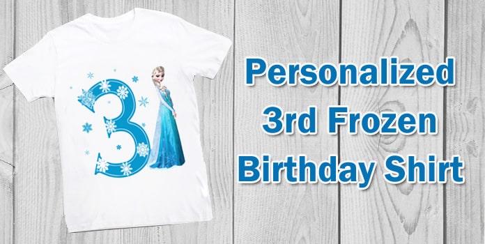 Frozen Birthday personalized t-shirt, Frozen Birthday shirt 3 year Girl