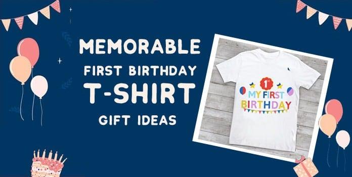 First Birthday T-shirt, 1st Birthday T-shirt Gift, Baby Girl Boy Birthday Shirt