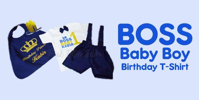 Boss Baby Boy Birthday T-Shirt, Boss Baby 1st Birthday Shirts