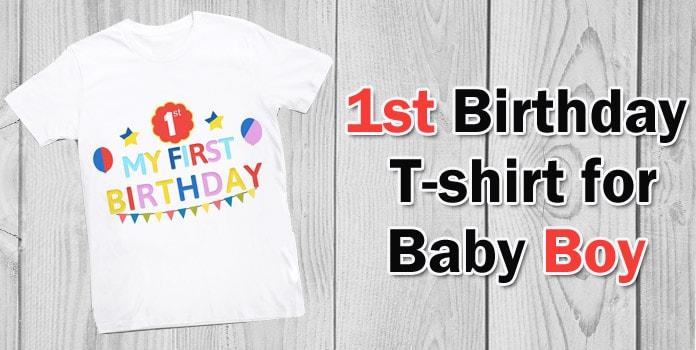 First Birthday T-shirt Boy, Baby 1st Year Birthday T-shirt Online