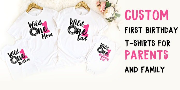 First Birthday T-shirts for Parents and Family