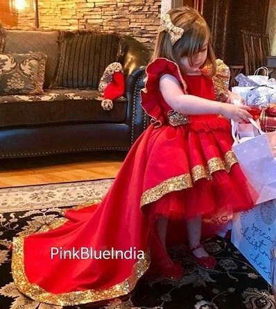 Kids Red Birthday Dresses, Red Party Dresses