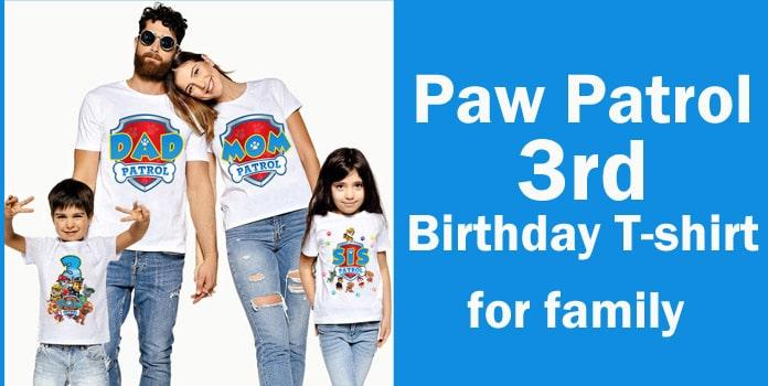 Paw patrol family birthday shirt Personalized Paw patrol T-shirts