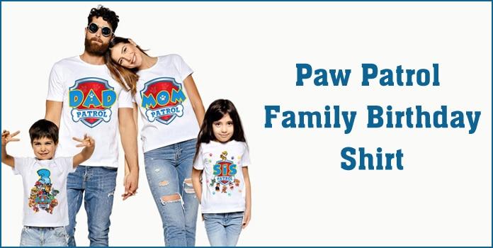 Paw Patrol Shirts, Paw Patrol Birthday Family Shirt, Custom Paw Patrol Outfits