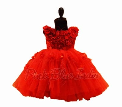 Girls Red Birthday Dress, Red Party Dress