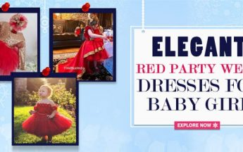 Best Elegant Red Party Wear Dresses Images for Baby Girl