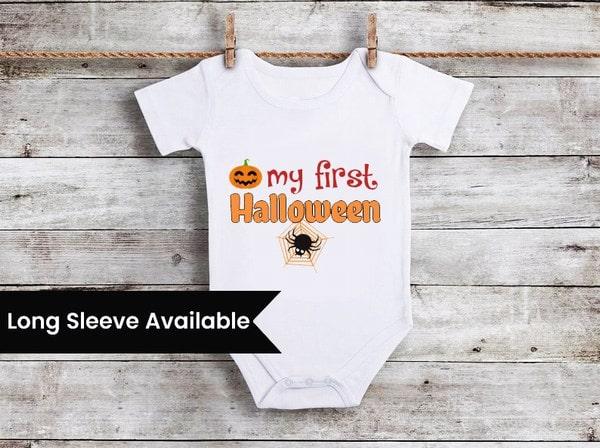 baby boy my first halloween outfit, Boy first halloween Onesie, Newborn halloween
