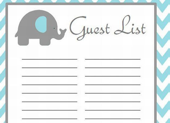 Virtual Baby Shower Guests List