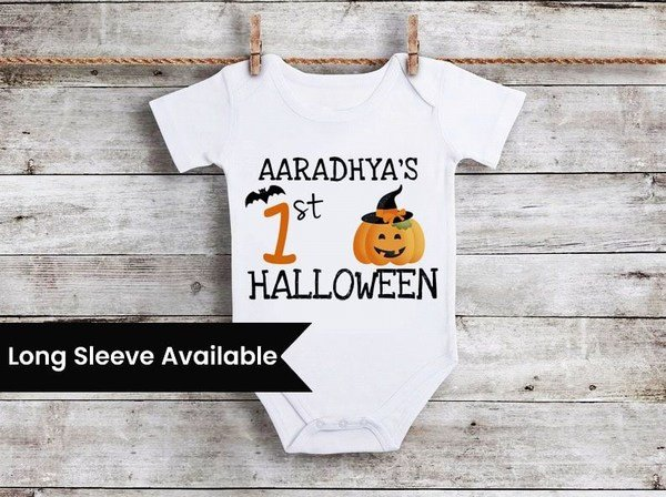 My First Halloween Baby Girl Outfit, Newborn Baby first halloween Onesie