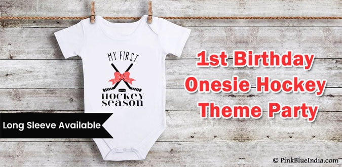 1st Birthday Onesie Hockey Theme Party Outfit