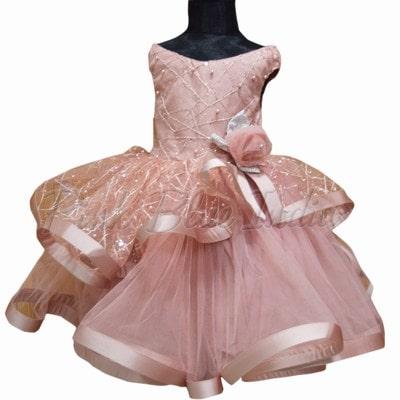 5 Year Baby Girl Birthday Gown, Birthday Dress