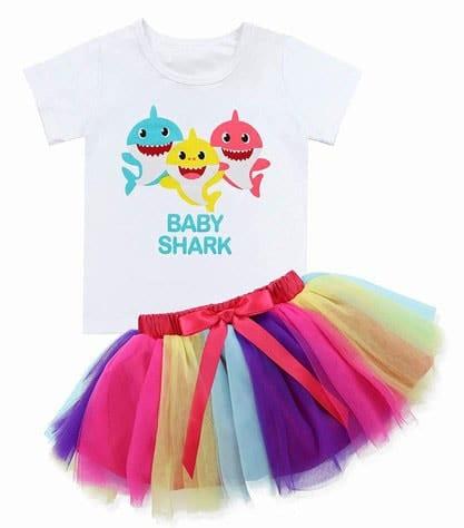 Baby Shark Theme Dress, Baby Shark Birthday Outfit India