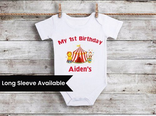 Circus Ringmaster Boys 1st Birthday Outfit, Carnival themed 1st birthday outfit boy Onesie