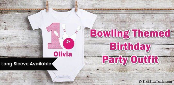 Bowling Themed Birthday Party Outfits Boy and Girl Onesie