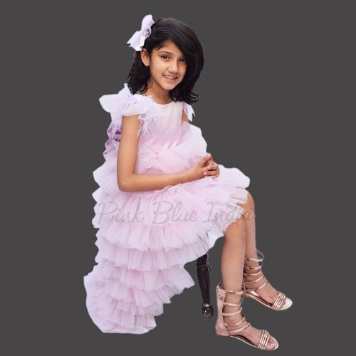Designer 5th Birthday Party Dress, 5 year girl gown