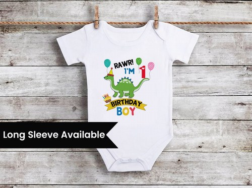 Dinosaur First Birthday Outfit Boy, Dinosaur Theme Birthday party Onesie