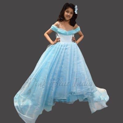 Frozen Elsa Dress for 5 year old, Disney Princess Birthday Dress