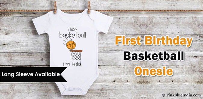 First Birthday Theme Basketball Outfit - Personalized Onesie