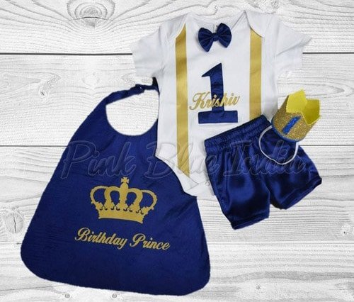 Little Prince Boys Cake Smash Outfit, Royal Prince 1st Birthday Party