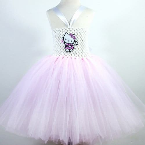 Hello Kitty Kids Frock, Little Girls Birthday Party Dress