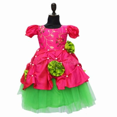 Pink Party Wear Frock, 5 year Girl Birthday Dress