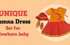 Ethnic Unique Jamna Dress Set for Newborn Baby