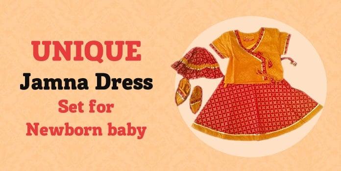 Ethnic Baby Jamna Dress India, Jamna Set for Newborn