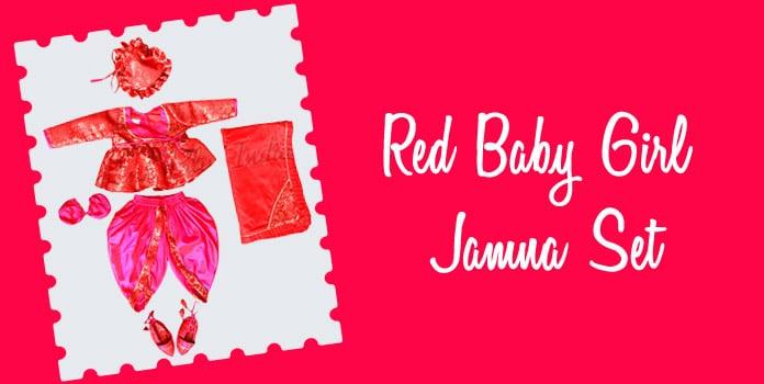 Baby Girl Jamna Set, baby jamna Dress Online