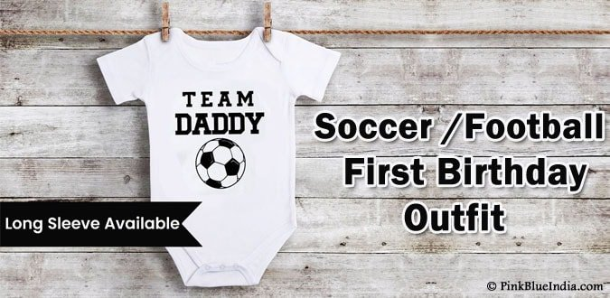 Soccer First Birthday Outfit, Football 1st Birthday Shirts, Baby Onesie