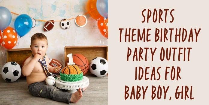 Sports Theme Birthday Party Outfit, Boy Girl First Birthday Onesie