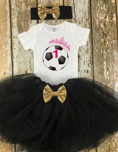 Sports Themed Birthday Party Outfit for Baby Girl