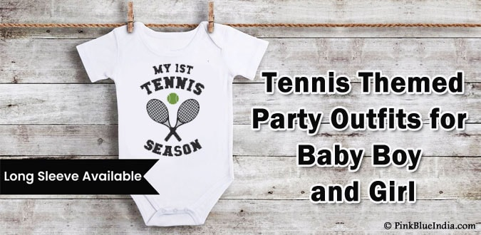 Baby Boy Girl Tennis Theme Party Outfit