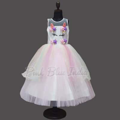 Unicorn 5th Birthday Outfit, unicorn birthday dress 5 year old