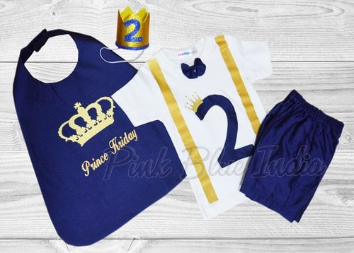 2nd Birthday Prince Charming Outfit, Second Birthday Party Costume
