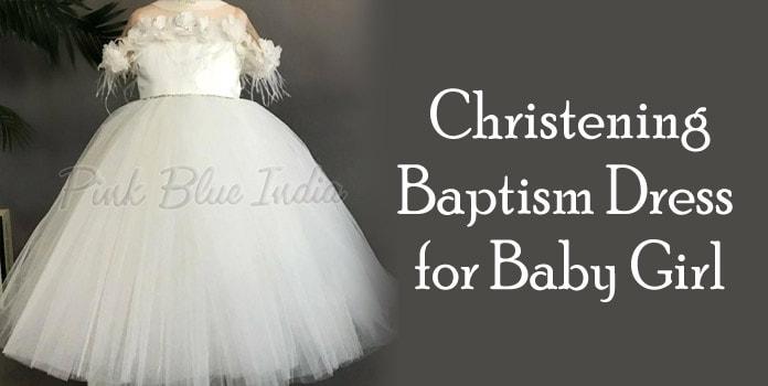Baby Girl Baptism Dress Online, White Christening Gown