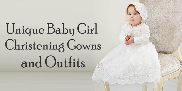 Unique Baby Girl Christening Gown, Baptism Outfits, Designer baptism gown