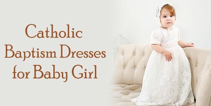 Toddler Baby Girl Catholic Baptism Dresses, White infant baby girl dress