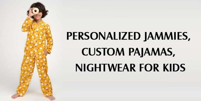 Kids Custom Pajamas, Personalized Baby Jammies, Customized Children Nightwear, PJs