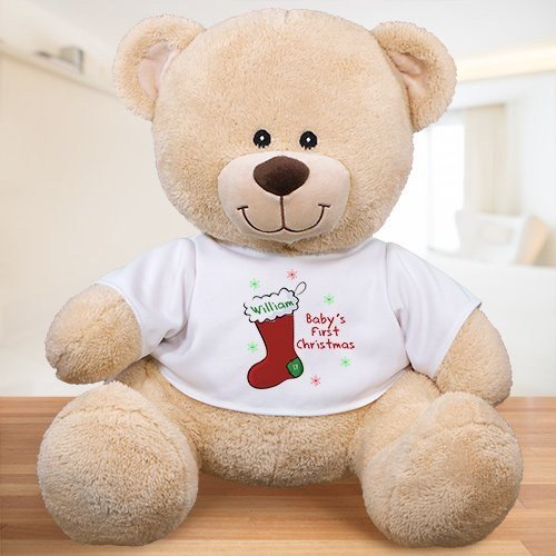 First Christmas Personalized Teddy Bear